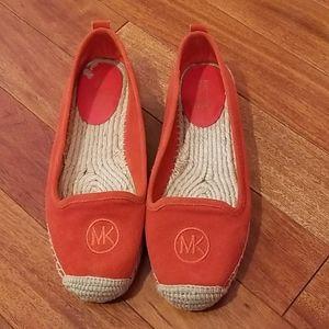 Michael Kors shoes size 7 orange suede